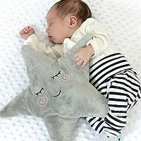 Pillow LITTLE STAR with rattle