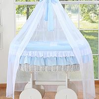 Wicker cribs with drape Deluxe