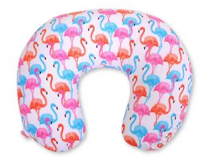 Extra cover for feeding pillow- flamingo