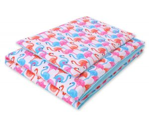 Bedding set 2pcs 100x135 Mini - flamingos