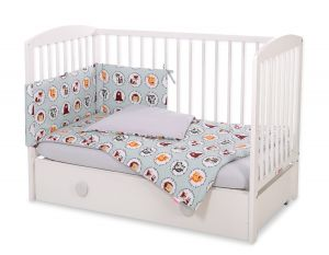 Bedding set 3-pcs - mint animals