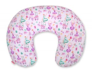 Extra cover for feeding pillow- ballerinas lilac