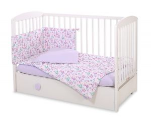 Bedding set 3-pcs - ballerinas lilac
