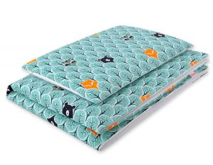Bedding set 2pcs 100x135 Mini - mint forest