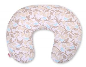 Extra cover for feeding pillow- beige leaves