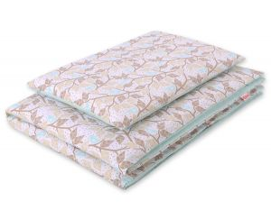 Bedding set 2pcs 100x135 Mini - beige leaves