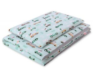 Bedding set 2pcs 100x135 Mini - mint rabbits
