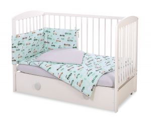 Bedding set 3-pcs -  mint rabbits