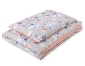 Bedding set 2pcs 100x135 Mini - swans gray