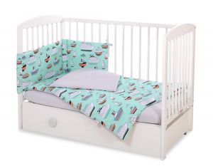 Bedding set 3-pcs - mint ships