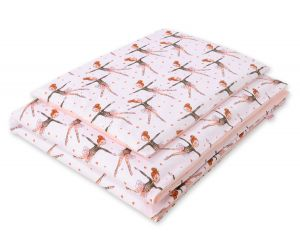 Bedding set 2pcs 100x135 Mini - ballerinas pink