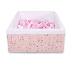 Ball-pit minky with balls 200pcs -ballerinas pink