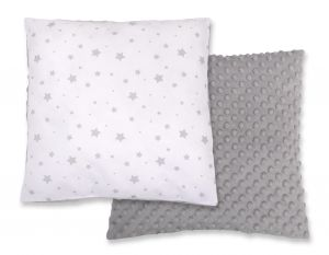 Doublesided Pillow - mini gray stars