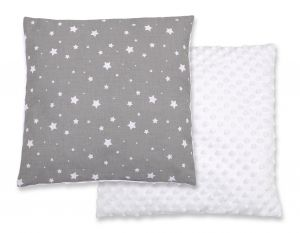 Doublesided Pillow - mini stars white