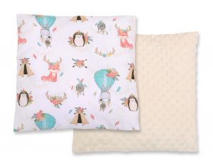 Doublesided Pillow - foxes beige