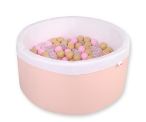 Ball-pit minky  with balls - powder pink