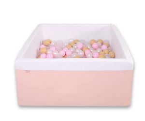 Ball-pit minky with balls 200pcs - powder pink
