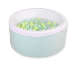 Ball-pit minky  with balls - mint