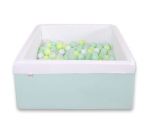 Ball-pit minky with balls 200pcs - mint