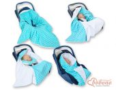 Double-sided car seat blanket