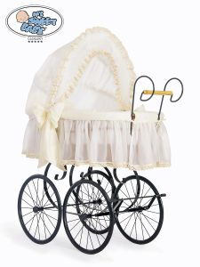 Retro wicker crib Elisa- Cream