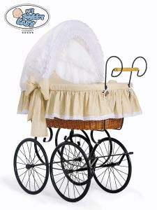 Retro wicker crib  Christine - White - beige