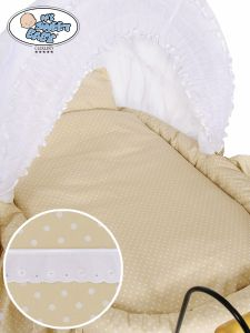 Cover set 4 pcs for Wicker crib Christine no. 2100-916 or 72100-916