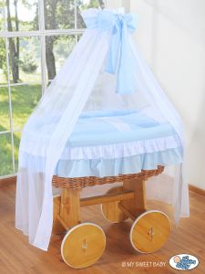 Bedding set 2-pcs for Moses Basket/Wicker crib no. 72107-109 or 2107-109