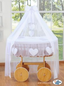 Wicker drape crib Deluxe- Amelie white