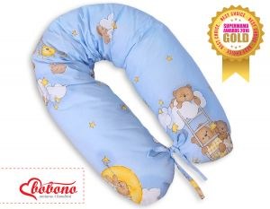 Pregnancy pillow- Longer- Blue ladders