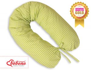 Pregnancy pillow - Longer- Green checkered