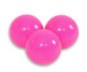 Plastic balls for the dry pool 50pcs - pink