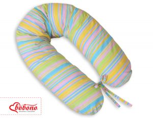 Pregnancy pillow- Longer - Rainbow strips
