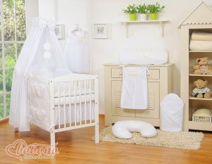 Bedding set 11pcs with canopy- Little Prince/Princess white