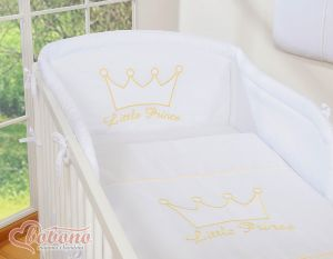 Bedding set 3pcs- Little Prince/Princess white