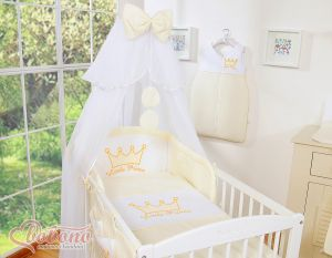 Bedding set 7pcs with mosquito-net- Little Prince/Princess cream