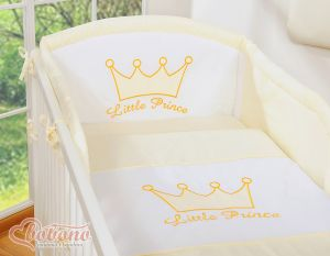 Bedding set 2-pcs- Little Prince/Princess cream