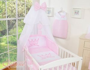 Bedding set 7pcs with mosquito-net- Little Prince/Princess pink