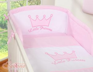 Bedding set 3pcs- Little Prince/Princess pink