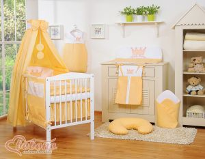 Bedding set 11pcs with canopy- Little Prince/Princess peach