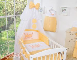 Bedding set 7pcs with mosquito-net- Little Prince/Princess peach
