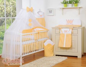 Bedding set 11pcs with mosquito-net- Little Prince/Princess peach