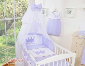 Bedding set 5pcs with mosquito-net- Little Prince/Princess lilac