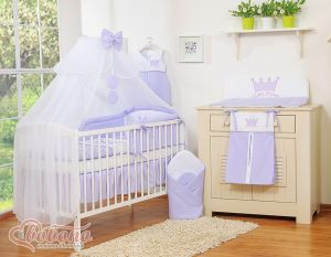 Bedding set 11pcs with mosquito-net- Little Prince/Princess lilac
