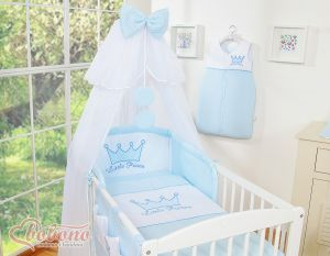 Bedding set 7pcs with mosquito-net- Little Prince/Princess blue