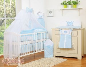 Bedding set 11pcs with Mosquito-net- Little Prince/Princess blue