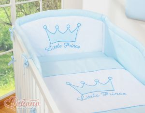 Bedding set 3pcs- Little Prince/Princess blue