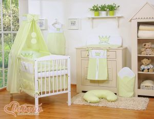 Bedding set 11pcs with canopy- Little Prince/Princess green