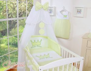 Bedding set 7pcs with mosquito-net- Little Prince/Princess green