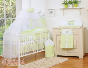 Bedding set 11pcs with Mosquito-net- Little Prince/Princess green